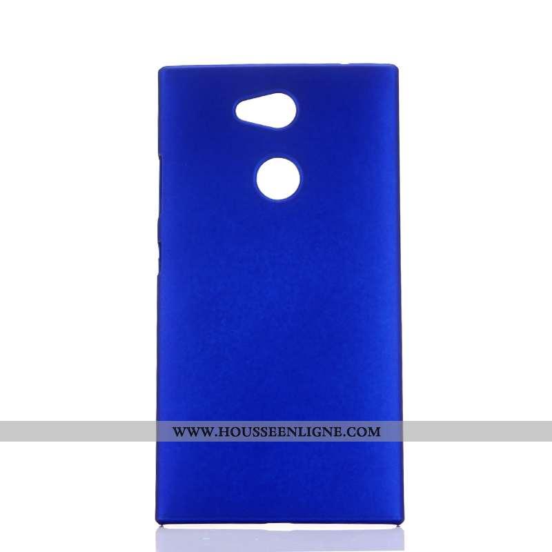 Housse Sony Xperia L2 Délavé En Daim Protection Membrane Étui Coque Téléphone Portable Bleu