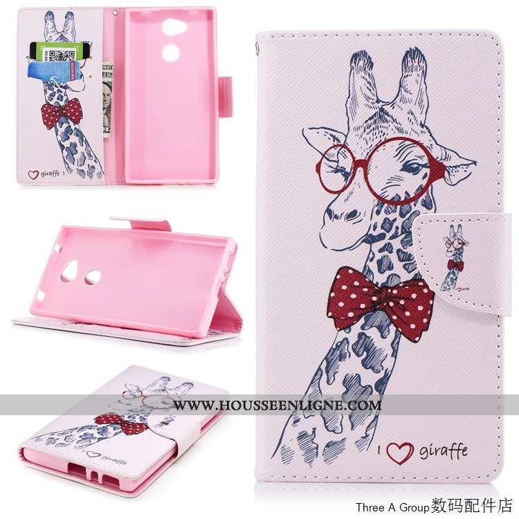 Housse Sony Xperia L2 Fluide Doux Silicone Téléphone Portable Blanc Cuir Coque Carte Blanche