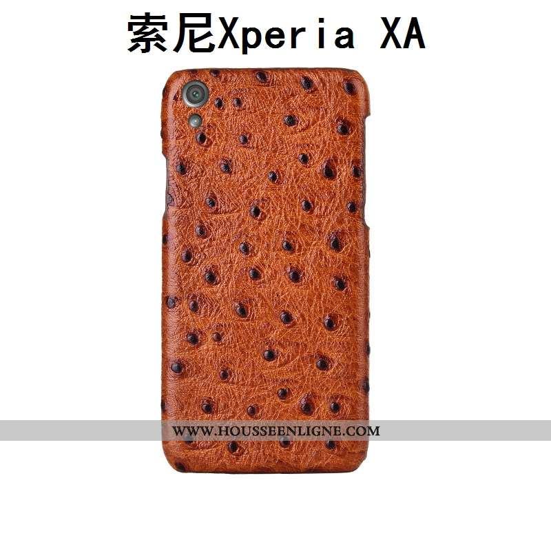 Housse Sony Xperia Xa Cuir Véritable Modèle Fleurie Personnalisé Coque Couvercle Arrière Téléphone P