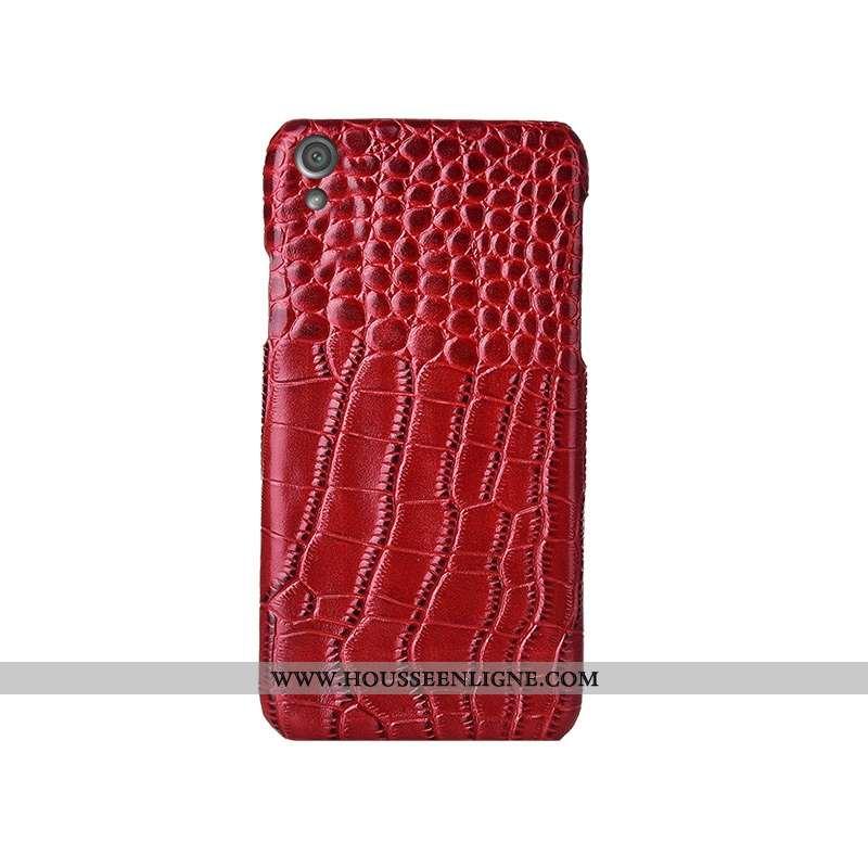 Housse Sony Xperia Xa Modèle Fleurie Mode Coque Téléphone Portable Luxe Rouge Cuir