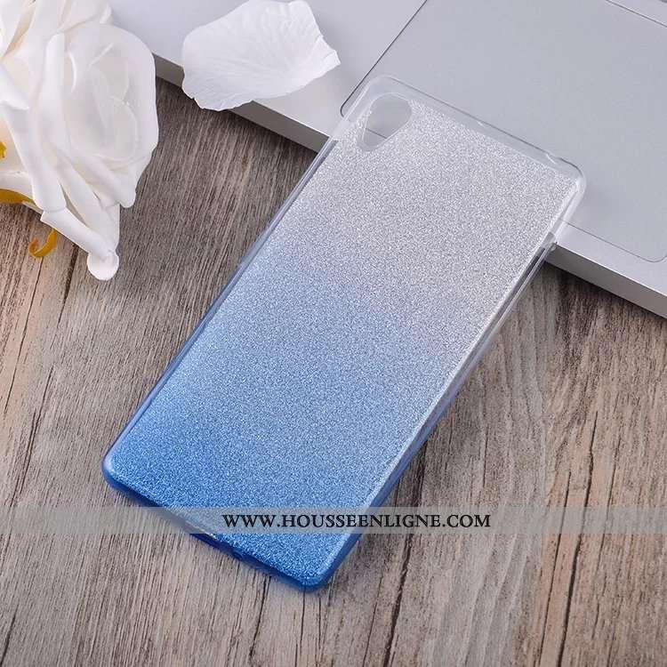 Housse Sony Xperia Xa Protection Fluide Doux Incassable Téléphone Portable Étui Coque Dégradé Bleu