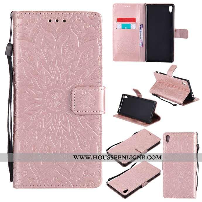 Housse Sony Xperia Xa Ultra Cuir Silicone Coque Protection Étui Téléphone Portable Rose