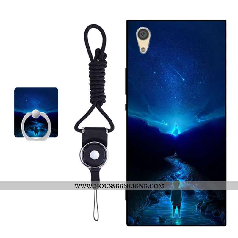 Housse Sony Xperia Xa1 Fluide Doux Protection Coque Bleu Incassable Téléphone Portable Couvercle Arr