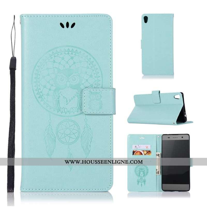 Housse Sony Xperia Xa1 Fluide Doux Silicone Coque Téléphone Portable Protection Clamshell Étui Bleu