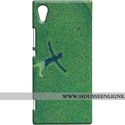 Housse Sony Xperia Xa1 Protection Coque Vert Étui Téléphone Portable Difficile Verte