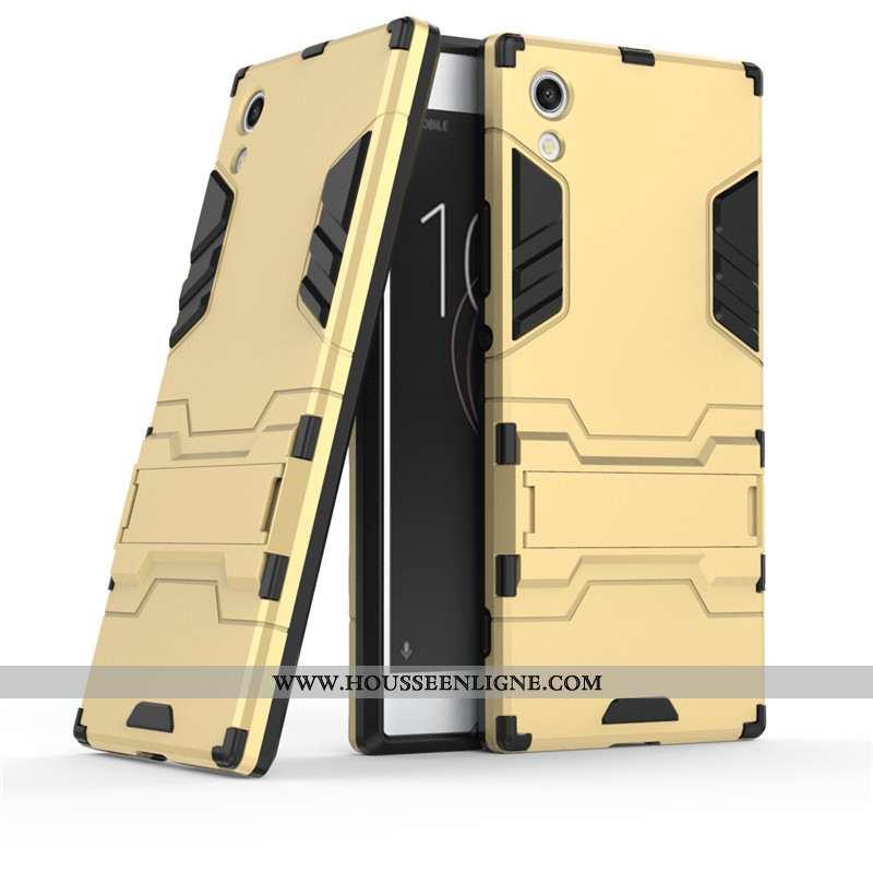 Housse Sony Xperia Xa1 Protection Téléphone Portable Coque Incassable Support Or Étui Doré