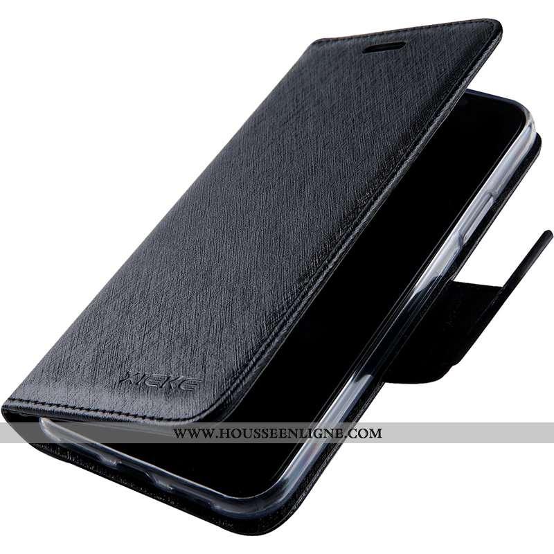 Housse Sony Xperia Xa1 Ultra Modèle Fleurie Fluide Doux Coque Cuir Soie Mulberry Bleu Marin Téléphon