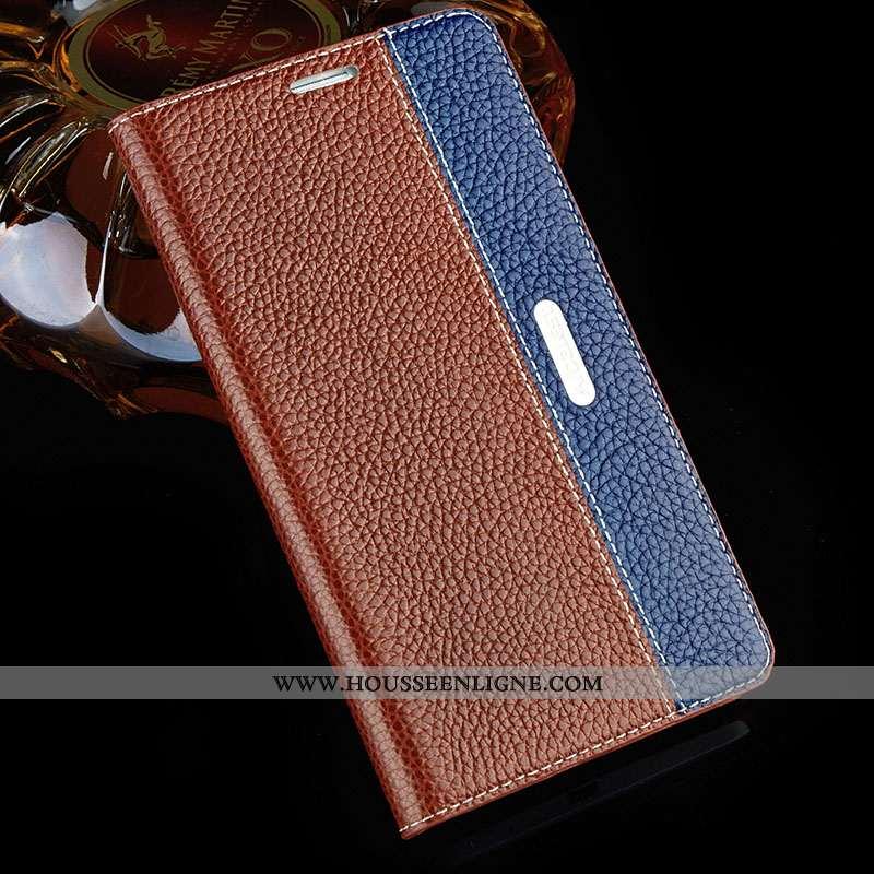 Housse Sony Xperia Xa1 Ultra Protection Cuir Véritable Marron Coque Téléphone Portable Cuir Étui