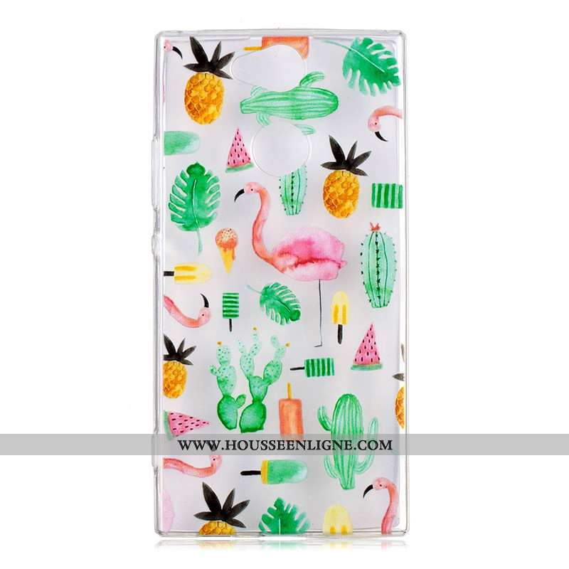 Housse Sony Xperia Xa2 Charmant Fluide Doux Téléphone Portable Vert Dessin Animé Coque Étui Verte