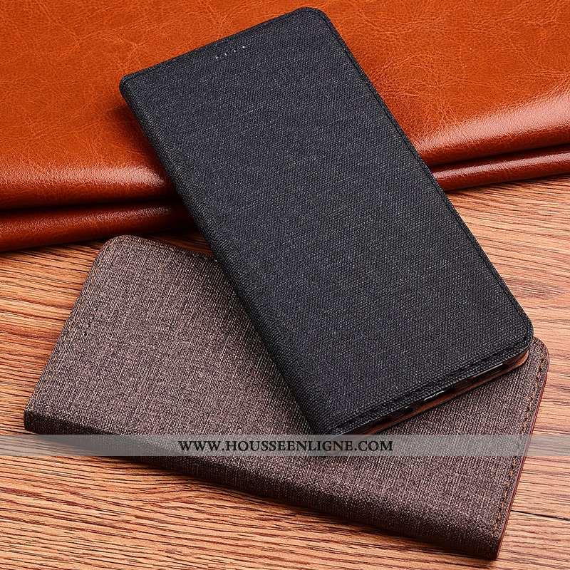 Housse Sony Xperia Xa2 Cuir Fluide Doux Incassable Clamshell Silicone Coque Étui Noir