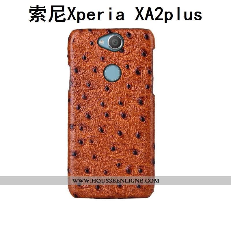 Housse Sony Xperia Xa2 Plus Modèle Fleurie Protection Luxe Oiseau Bovins Cuir Couvercle Arrière Marr