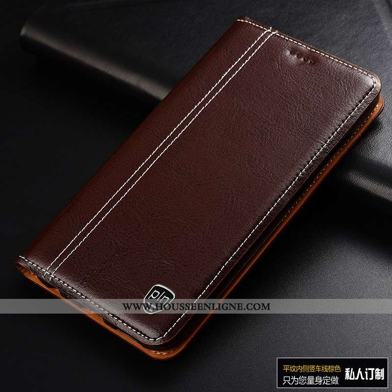 Housse Sony Xperia Xa2 Ultra Cuir Mode Business Véritable Tout Compris Téléphone Portable Marron