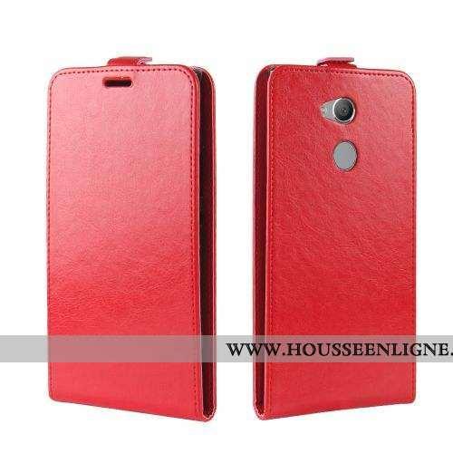 Housse Sony Xperia Xa2 Ultra Silicone Cuir Coque Rouge Téléphone Portable Étui