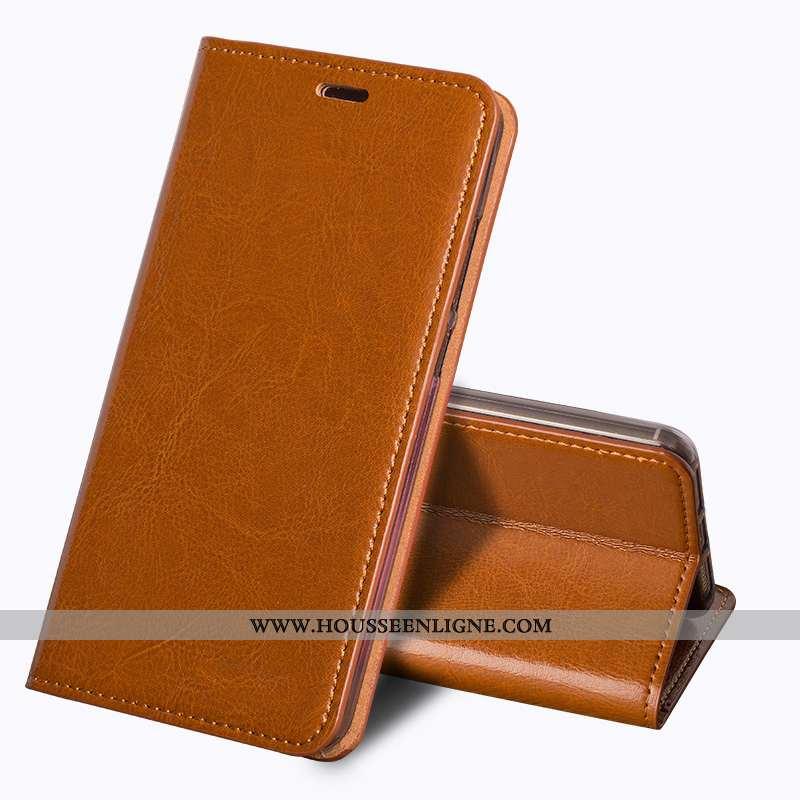 Housse Sony Xperia Xa2 Ultra Vintage Fluide Doux Étui Téléphone Portable Protection Coque Marron