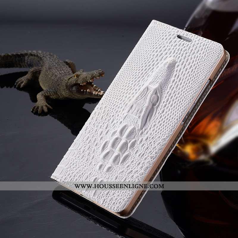 Housse Sony Xperia Xz Premium Cuir Véritable Protection Téléphone Portable Étui Coque Blanc Blanche