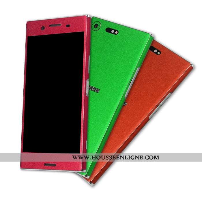 Housse Sony Xperia Xz Premium Multicolore Membrane Couleur Rouge Téléphone Portable Couvercle Arrièr