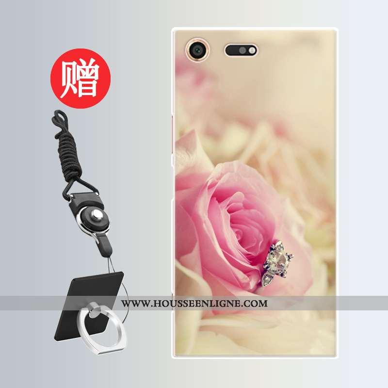 Housse Sony Xperia Xz Premium Protection Personnalité Incassable Téléphone Portable Net Rouge Rose M