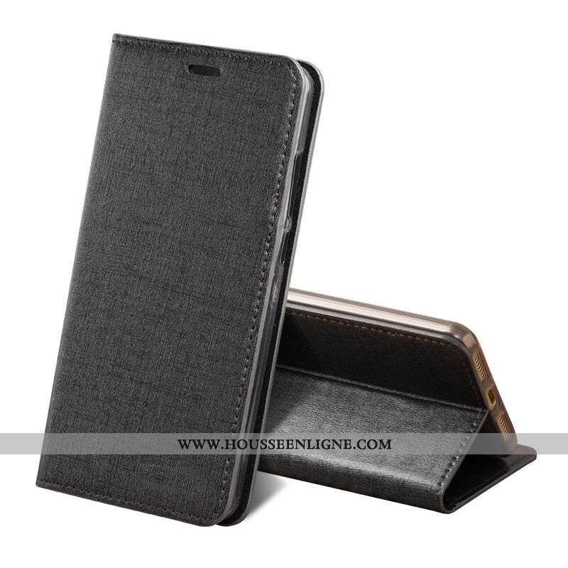 Housse Sony Xperia Xz1 Compact Luxe Cuir Véritable Noir Tout Compris Protection Clamshell Coque