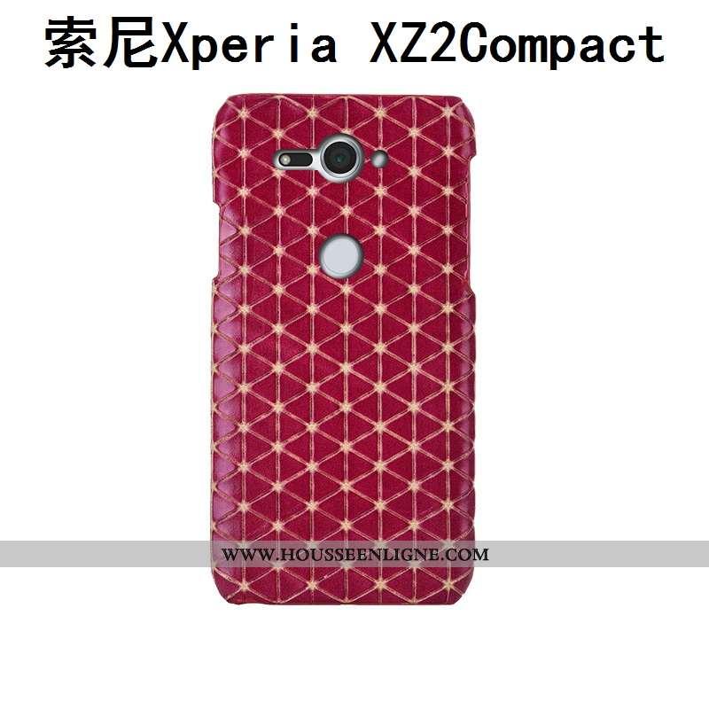 Housse Sony Xperia Xz2 Compact Protection Luxe Rouge Personnalisé Étui Incassable Mode Rose