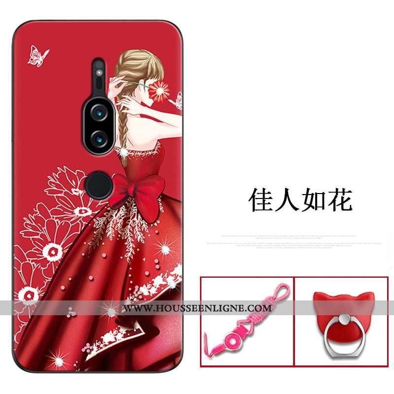 Housse Sony Xperia Xz2 Premium Créatif Fluide Doux Coque Téléphone Portable Rouge Personnalité Prote