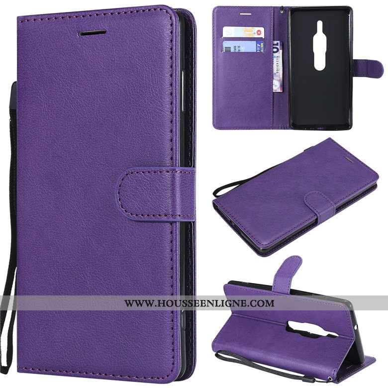 Housse Sony Xperia Xz2 Premium Cuir Silicone Coque Violet Incassable Étui