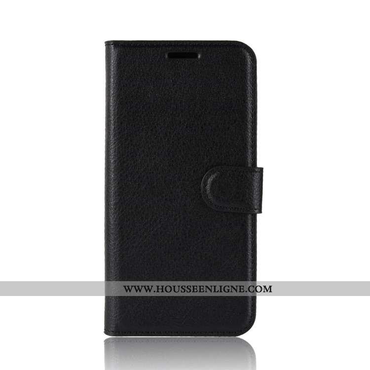 Housse Sony Xperia Xz2 Premium Portefeuille Cuir Téléphone Portable Noir Étui Coque