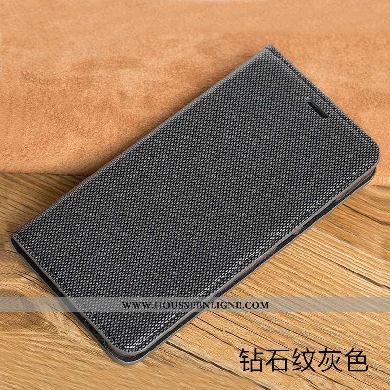 Housse Sony Xperia Xz2 Premium Protection Cuir Véritable Noir Étui Coque Téléphone Portable
