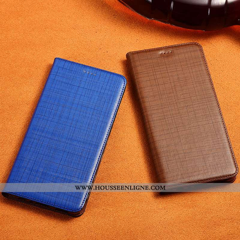 Housse Sony Xperia Xz3 Cuir Véritable Cuir Protection Fluide Doux Téléphone Portable Silicone Tout C