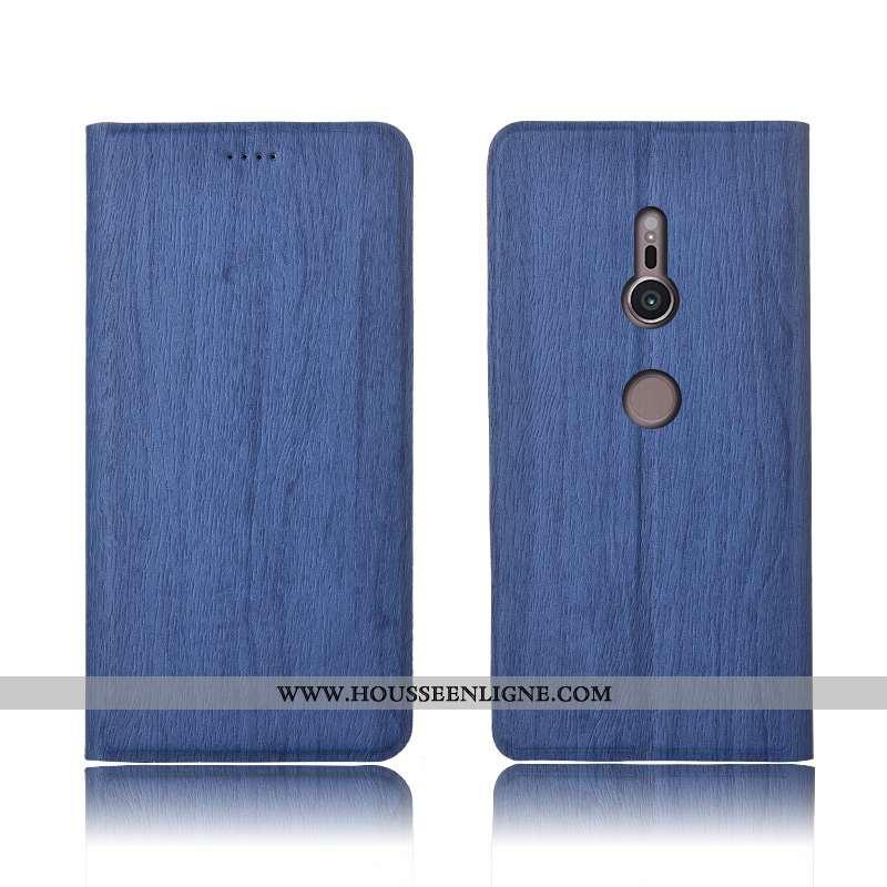Housse Sony Xperia Xz3 Modèle Fleurie Fluide Doux Protection Étui Clamshell Arbres Tout Compris Bleu