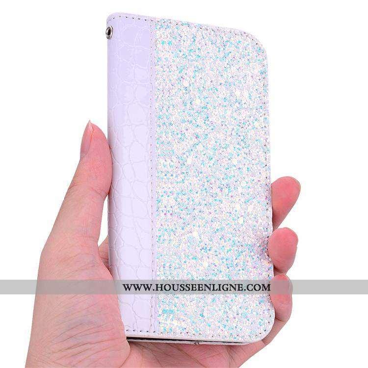 Housse Sony Xperia Xz3 Tendance Cuir Coque Protection Net Rouge Étui Téléphone Portable Blanche