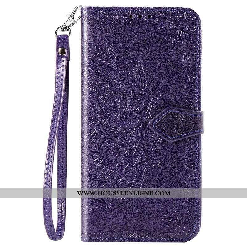 Housse Xiaomi Mi 10 Cuir Téléphone Portable Coque Tout Compris Étui Violet Incassable