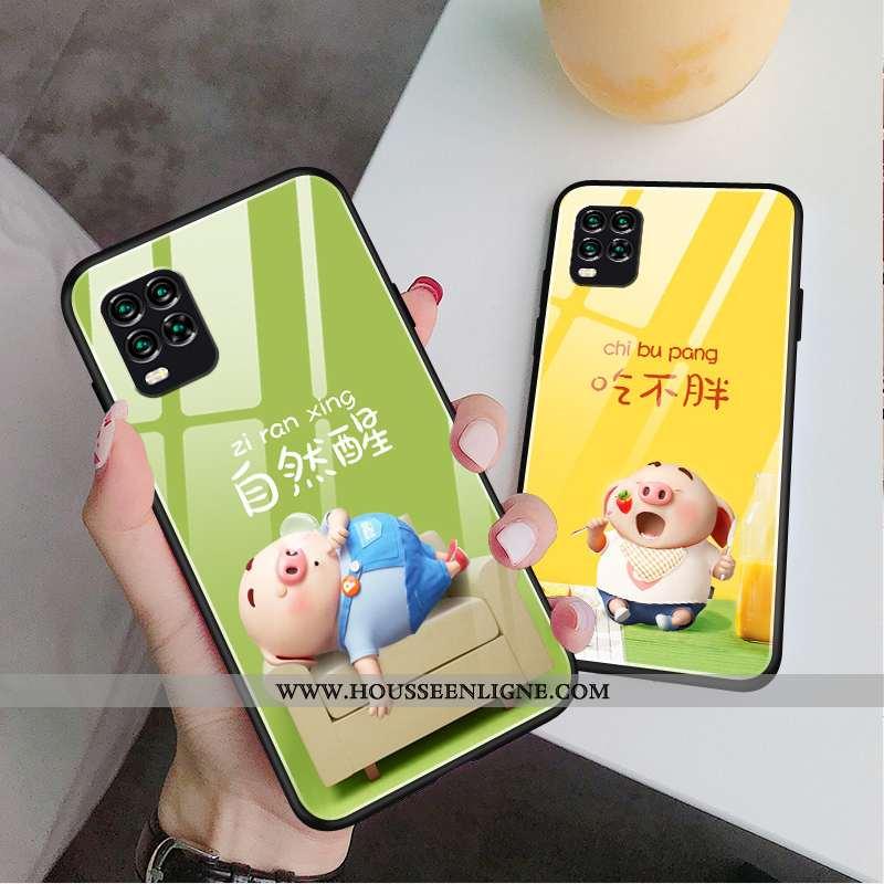 Housse Xiaomi Mi 10 Lite Charmant Tendance Verre Tout Compris Vert Protection Nouveau Verte