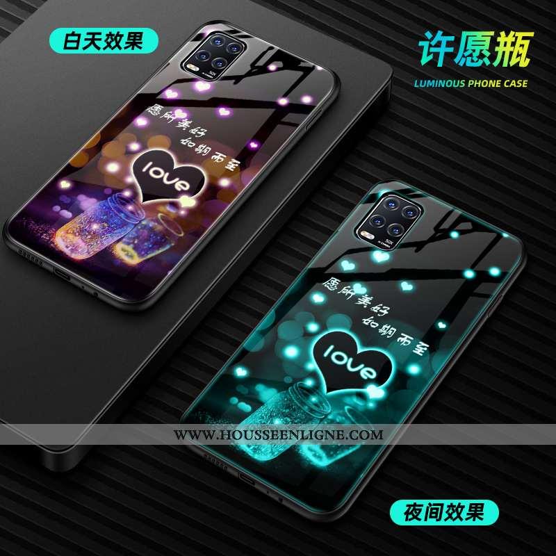 Housse Xiaomi Mi 10 Lite Personnalité Créatif Mode Vert Téléphone Portable Lumineuses Incassable Ver