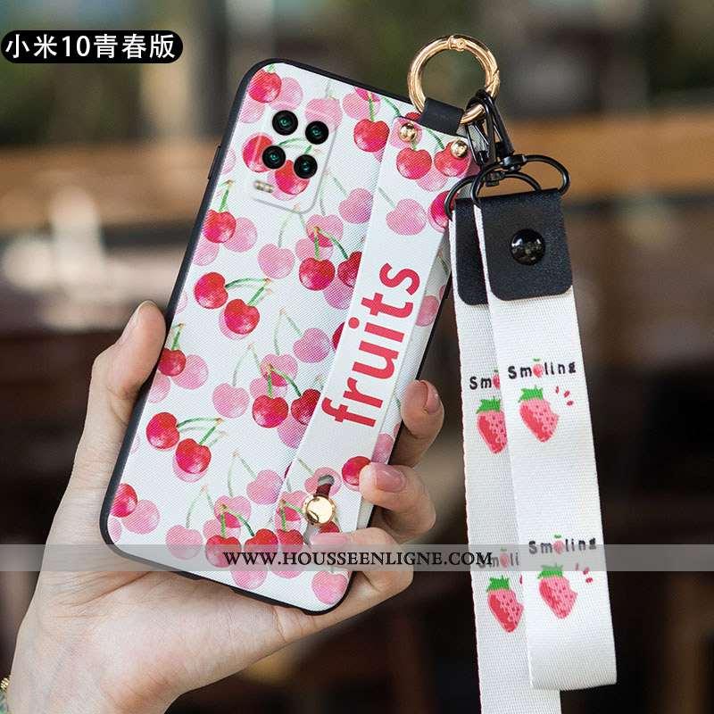Housse Xiaomi Mi 10 Lite Protection Délavé En Daim Tout Compris Fluide Doux Petit Légère Rose