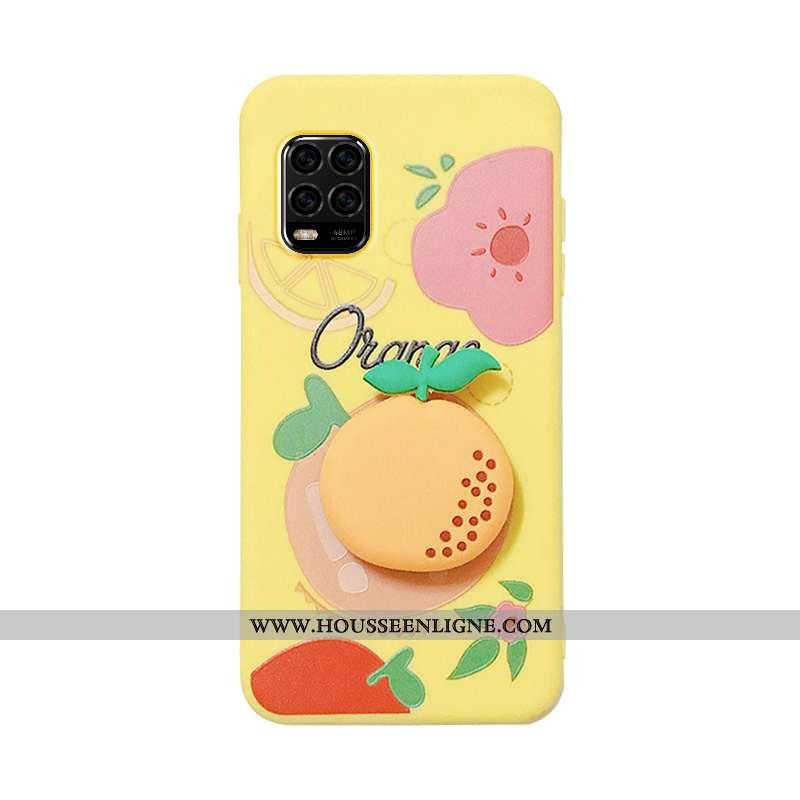 Housse Xiaomi Mi 10 Lite Protection Personnalité Net Rouge Jeunesse Dessin Animé Support Fruit Jaune