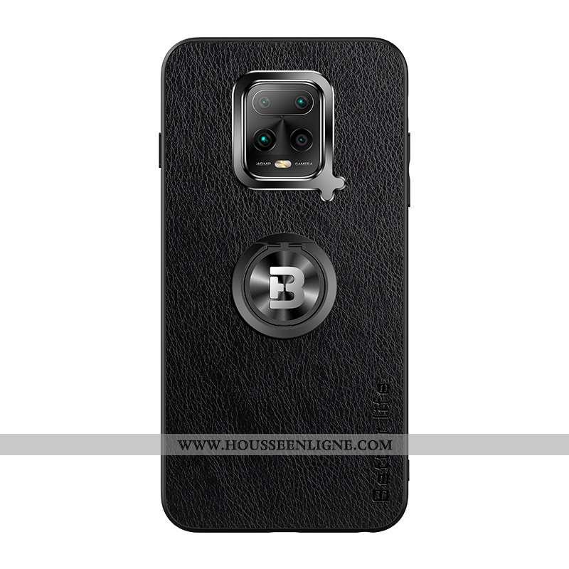 Housse Xiaomi Mi 10 Lite Silicone Protection Incassable Étui Coque Fluide Doux Petit Noir