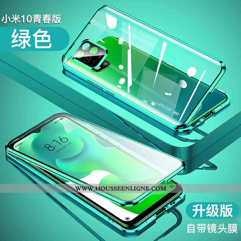 Housse Xiaomi Mi 10 Lite Transparent Ultra Étui Tout Compris Légère Border Protection Verte