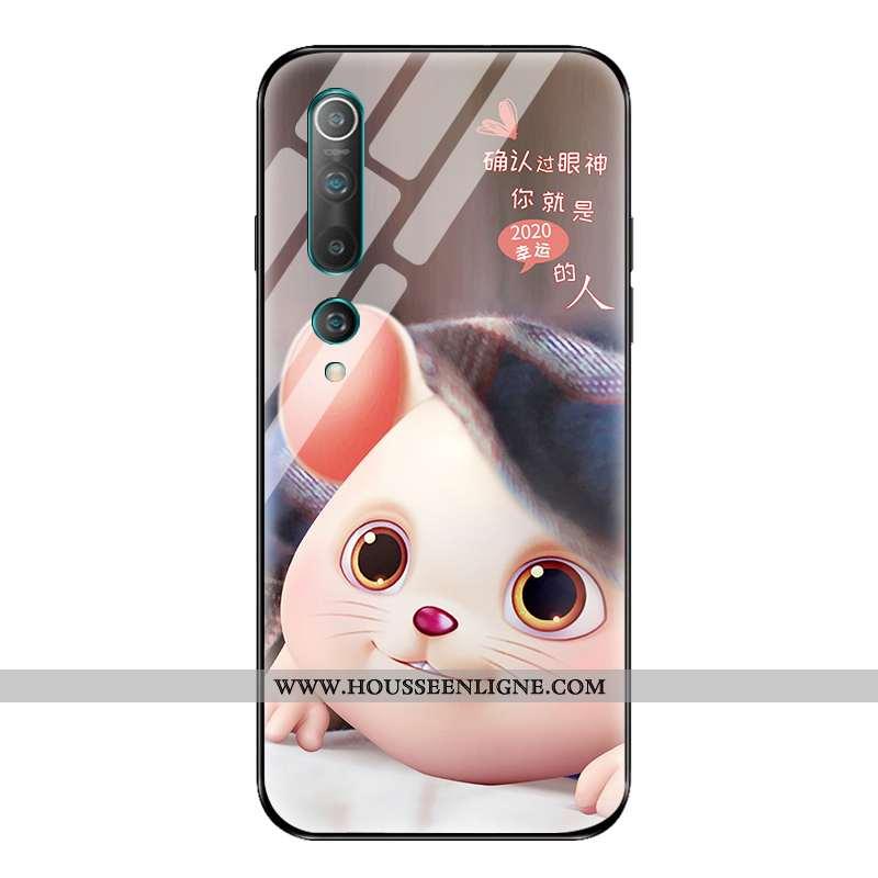 Housse Xiaomi Mi 10 Personnalité Créatif Vent Protection Nouveau Coque Petit Rose