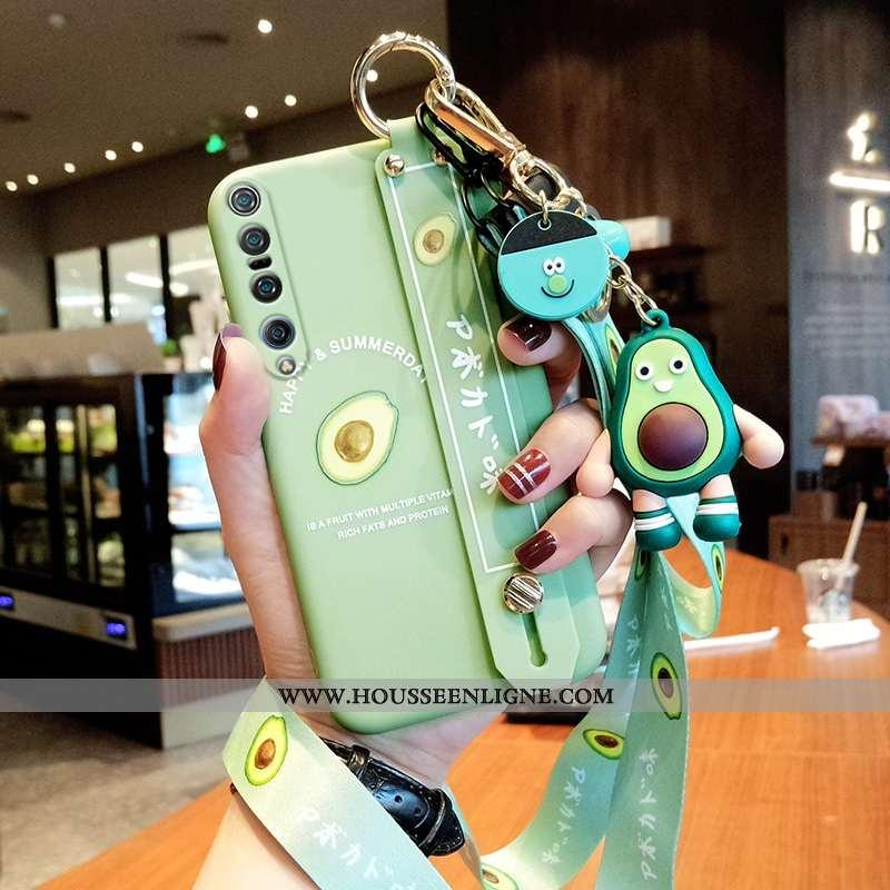 Housse Xiaomi Mi 10 Pro Protection Ornements Suspendus Tout Compris Tendance Vert Téléphone Portable