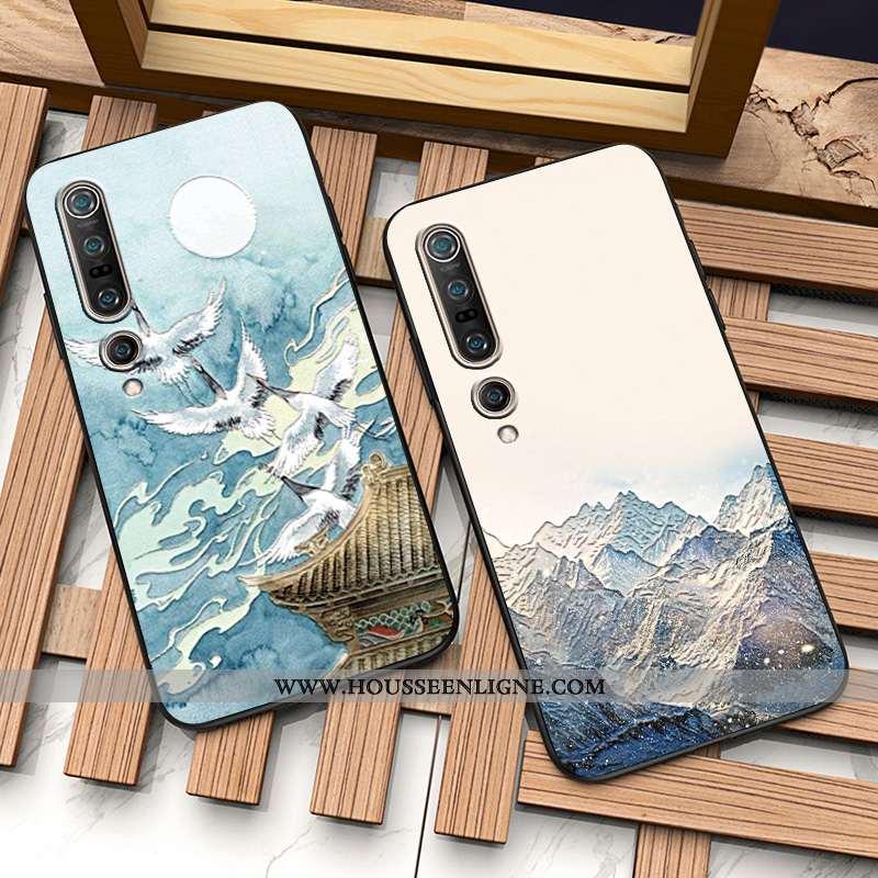 Housse Xiaomi Mi 10 Pro Silicone Protection Personnalité Personnalisé Incassable Fluide Doux Télépho