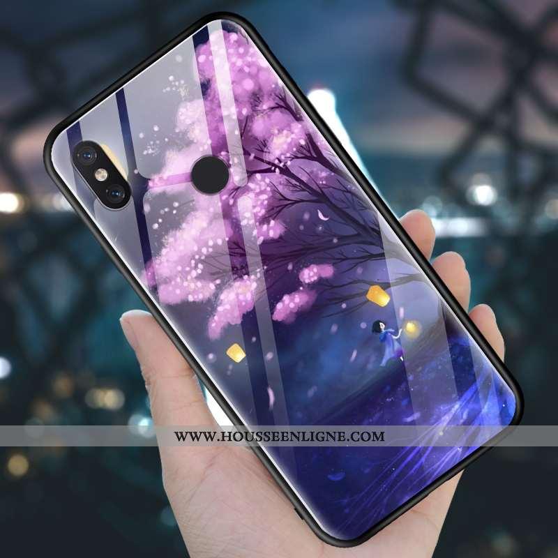 Housse Xiaomi Mi 8 Fluide Doux Silicone Incassable Petit Coque Tempérer Créatif Violet