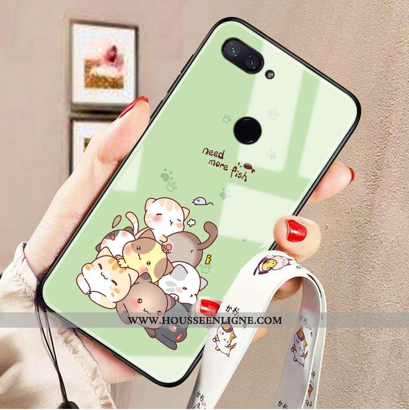 Housse Xiaomi Mi 8 Lite Personnalité Charmant Téléphone Portable Vert Jeunesse Verre Protection Vert