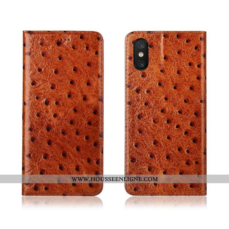 Housse Xiaomi Mi 8 Pro Cuir Modèle Fleurie Petit Jeunesse Étui Coque Téléphone Portable Orange
