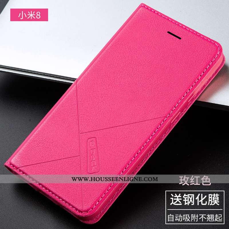 Housse Xiaomi Mi 8 Silicone Protection Incassable Tout Compris Coque Cuir Rose