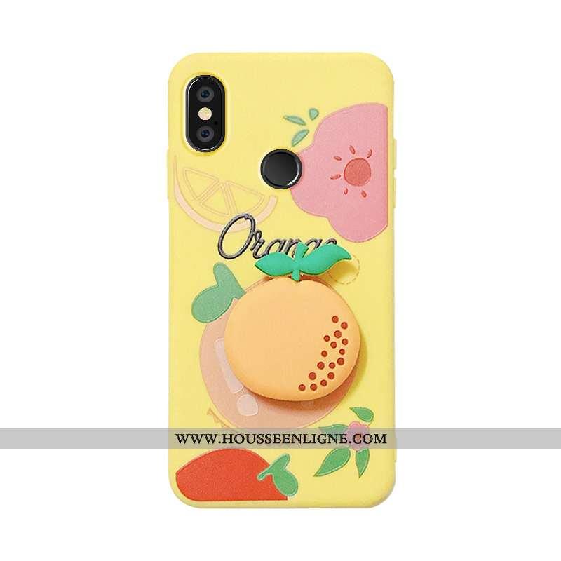 Housse Xiaomi Mi 8 Silicone Protection Jeunesse Petit Rose Fraise Fruit Jaune
