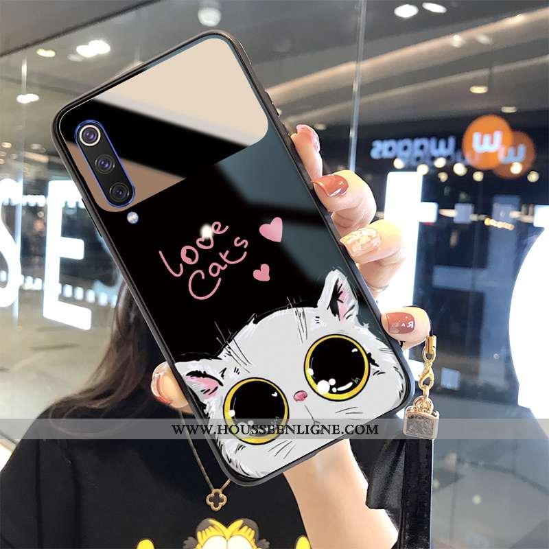 Housse Xiaomi Mi 9 Charmant Tendance Dessin Animé Chat Protection Noir Frais