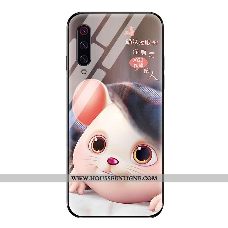 Housse Xiaomi Mi 9 Créatif Ultra Nouveau Délavé En Daim Tout Compris Silicone Clair Marron