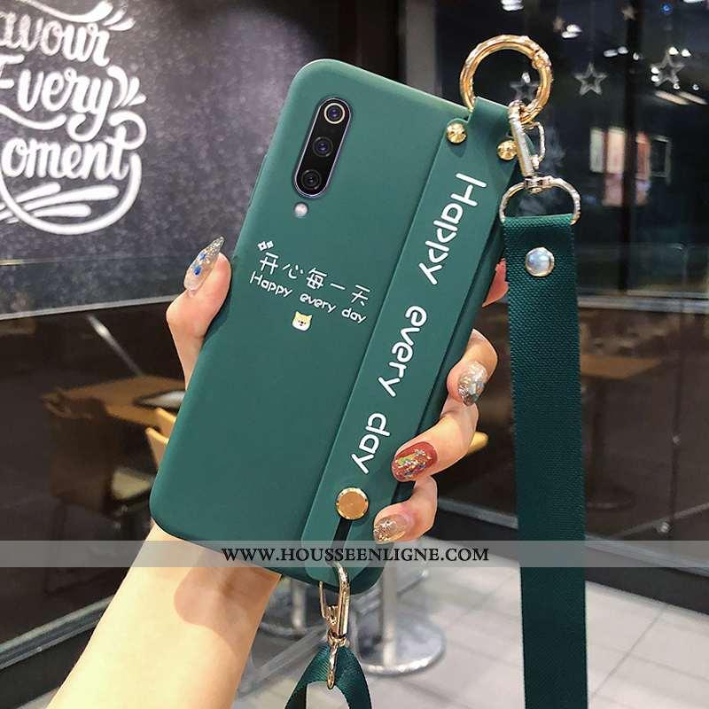 Housse Xiaomi Mi 9 Fluide Doux Silicone Tout Compris Vent Petit Vert Téléphone Portable Verte