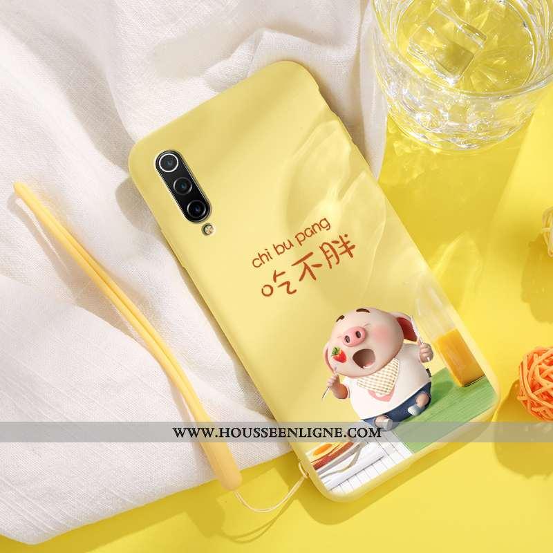 Housse Xiaomi Mi 9 Lite Charmant Ultra Silicone Créatif Net Rouge Personnalité Légère Jaune