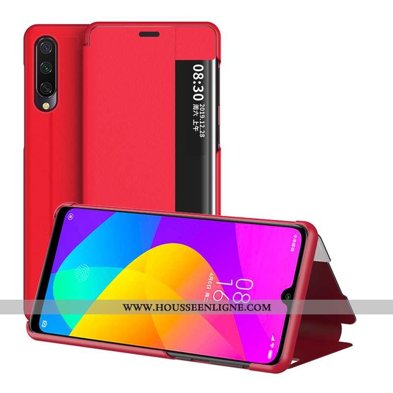 Housse Xiaomi Mi 9 Lite Créatif Cuir Support Incassable Mode Protection Rouge